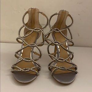 Jewel by Badgley Mischka Strappy Diamond Heels